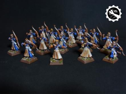 Arqueros elfos